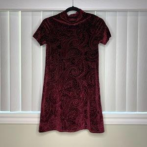 Aqua brand velvet burgundy dress size XS